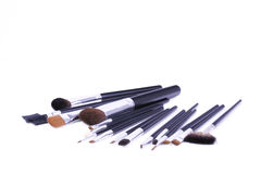 Set of professional make-up brushes Royalty Free Stock Photo