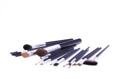 Set of professional make-up brushes royalty free stock photo