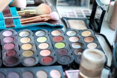Set for professional make-up. Royalty Free Stock Images