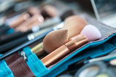 Set for professional make-up. Stock Photos
