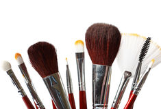 Set of professional makeup brushes. Royalty Free Stock Photography
