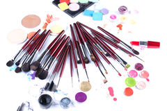 Set of professional makeup brushes and applicators Royalty Free Stock Photo