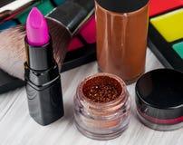 Set of professional makeup Stock Image