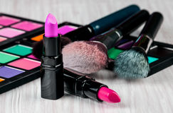 Set of professional makeup Royalty Free Stock Photo