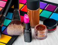 Set of professional makeup Stock Photos
