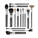 Set of Professional Makeup Powder Blush Brushes Stock Photo