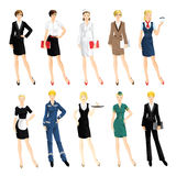 Set of professional woman Royalty Free Stock Photo