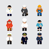 Set of professions characters vector illustration Stock Image
