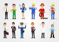 Set of 12 professions Stock Photo
