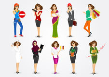 Set of 10 professions Royalty Free Stock Photo