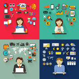 Set of professions. Graphic designer, accountant Royalty Free Stock Image