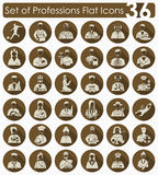 Set of professions icons Royalty Free Stock Image