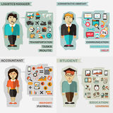 Set of professions. Logistics manager Stock Photos