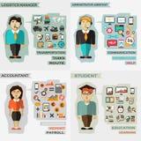 Set of professions. Logistics manager Stock Photos