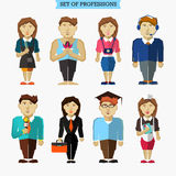 Set of professions. Meteorologist, musician Royalty Free Stock Images