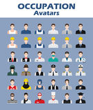 A set of professions people. Circle flat style icons.  Royalty Free Stock Photography