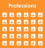 Set of professions simple icons Stock Images