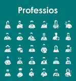Set of professions simple icons Stock Image