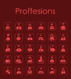 Set of professions simple icons Royalty Free Stock Photos