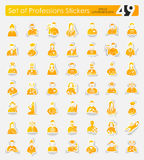 Set of professions stickers Stock Photo
