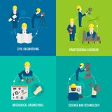 Set of proffession engineer composition Royalty Free Stock Photo
