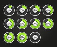 Set of progress indicator circles. Vector EPS10 Stock Image