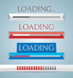 Set of progress loading bars Royalty Free Stock Image