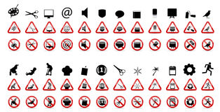 Set prohibicja znaki. Wektorowa ilustracja Zdjęcie Royalty Free