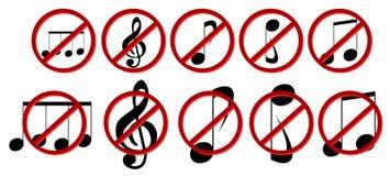 Set prohibition of music Royalty Free Stock Photo