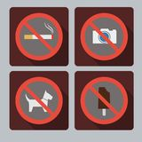 Set of prohibition signs. Royalty Free Stock Photography