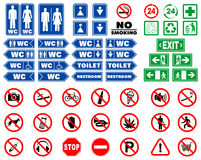Set of prohibition signs and signals Stock Photo