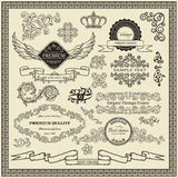 Set projektów elementy Obraz Stock