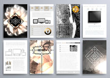 Set projektów szablony dla broszurek, ulotki, Mobilny Technologi Obraz Stock