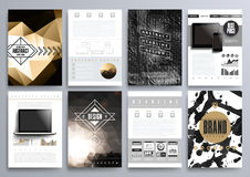 Set projektów szablony dla broszurek, ulotki, Mobilny Technologi royalty ilustracja