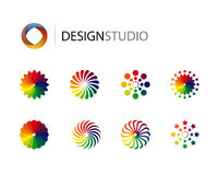 Set projekta graficzni loga elementy ilustracja wektor