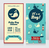 Set of promo cards and tags for season winter sale Royalty Free Stock Image