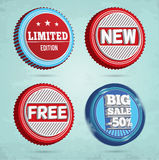 Set of promotion badges Royalty Free Stock Photography
