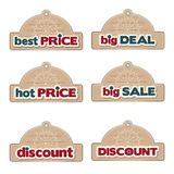 Set of promotional Christmas labels Royalty Free Stock Image