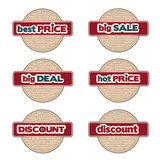 Set of promotional Christmas labels Stock Image