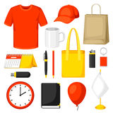 Set of promotional gifts and advertising souvenirs Royalty Free Stock Image