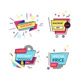 Set promotional stickers, banners, discount labels. Special offers, mega promo. Set promotional stickers, banners, discount labels. Best price, special price Stock Illustration