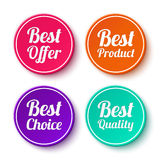 Set of promotional stickers, labels Stock Images
