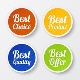 Set of promotional stickers, labels Royalty Free Stock Images