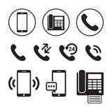 Set prosta telefon ikona royalty ilustracja