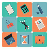 Set proste biznesowe ikony ilustracja wektor
