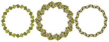 Set proste kwieciste ramy ilustracja wektor