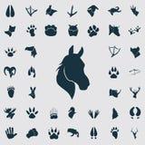 Set proste zwierzę ikony Obrazy Royalty Free