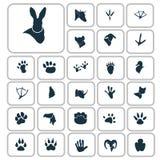 Set proste zwierzę ikony Zdjęcia Stock