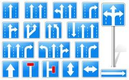 Set prostokątów znaki błękitny drogowi ilustracja wektor