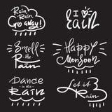 Set prosty inspiruje i motywacyjne wycena o deszczu ilustracji